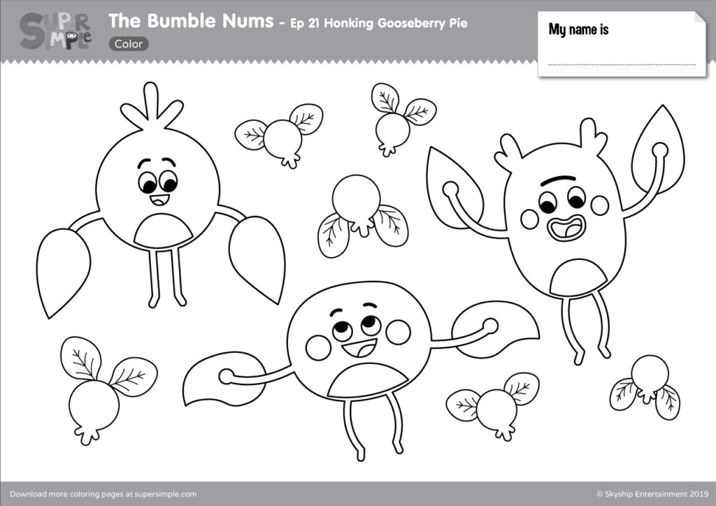 The Bumble Nums Ep 21 Coloring Page