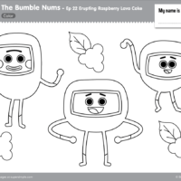 The Bumble Nums Ep22 Coloring Page