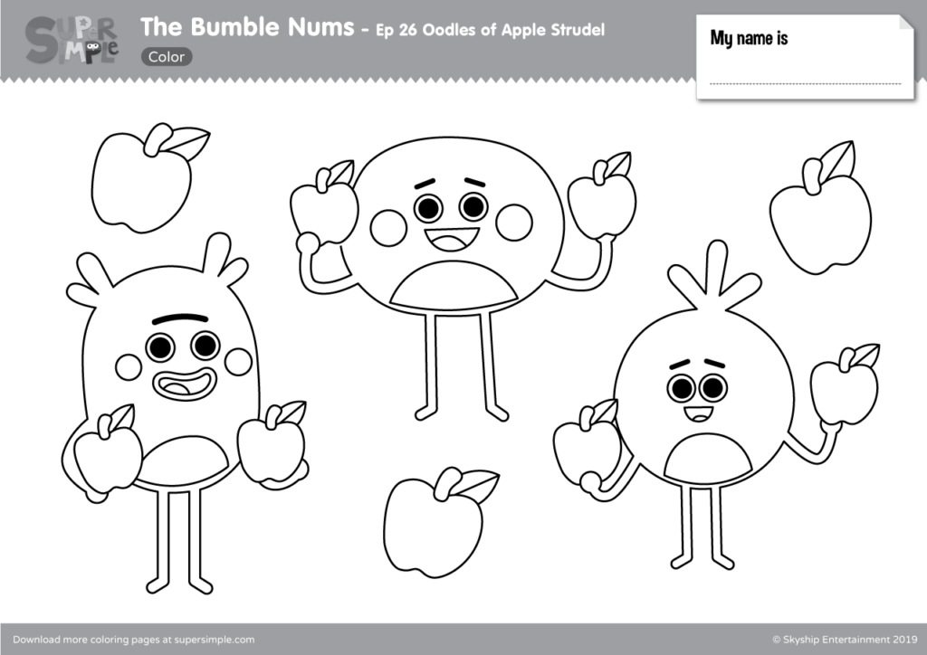 The Bumble Nums Color – Episode 26 – Oodles of Apple Strudel