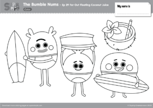 The Bumble Nums Color – Episode 29 – Far Out Floating Coconut Juice