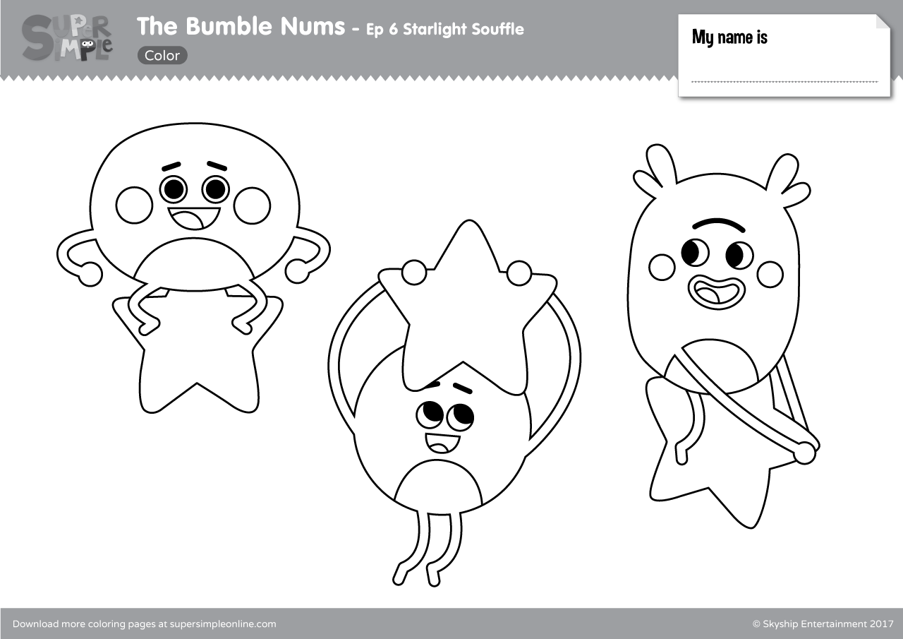 The Bumble Nums Color Episode 6 Starlight Souffle
