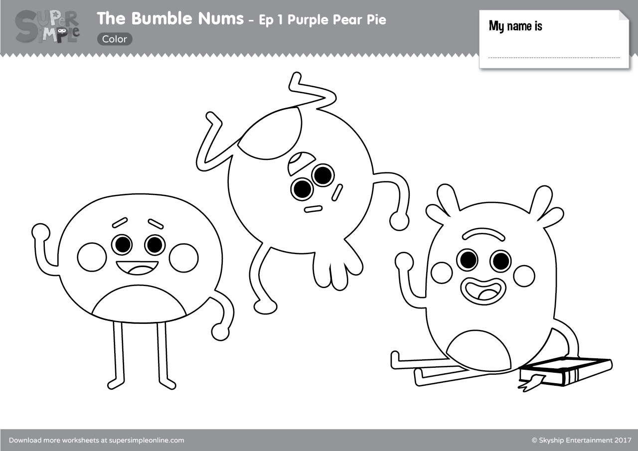 The Bumble Nums Resource Topic Super Simple