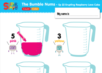The Bumble Nums Ep22 Count & Color Worksheet