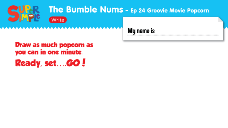 The Bumble Nums Worksheet Write Ep 24
