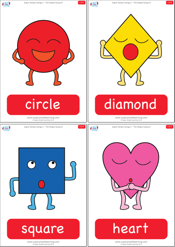 photo about Printable Shapes Flashcards named The Condition Tune #1 Flashcards - Tremendous Basic