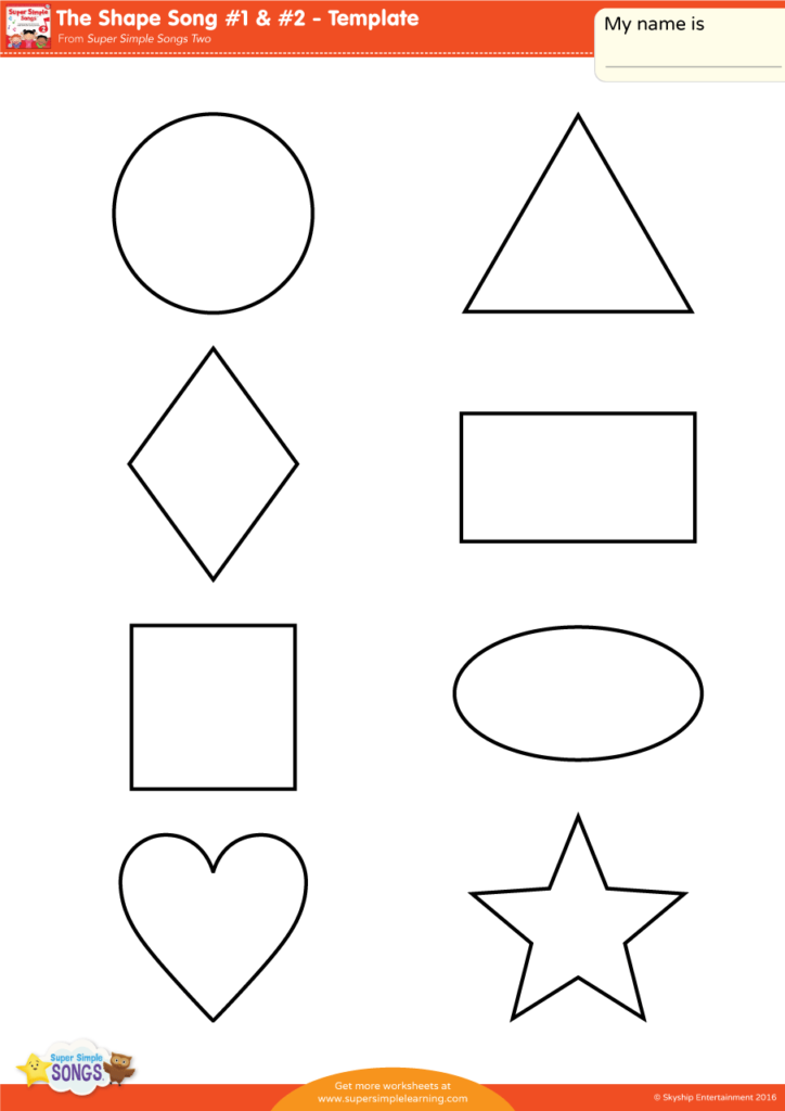 The Shape Song 1 2 Template Super Simple