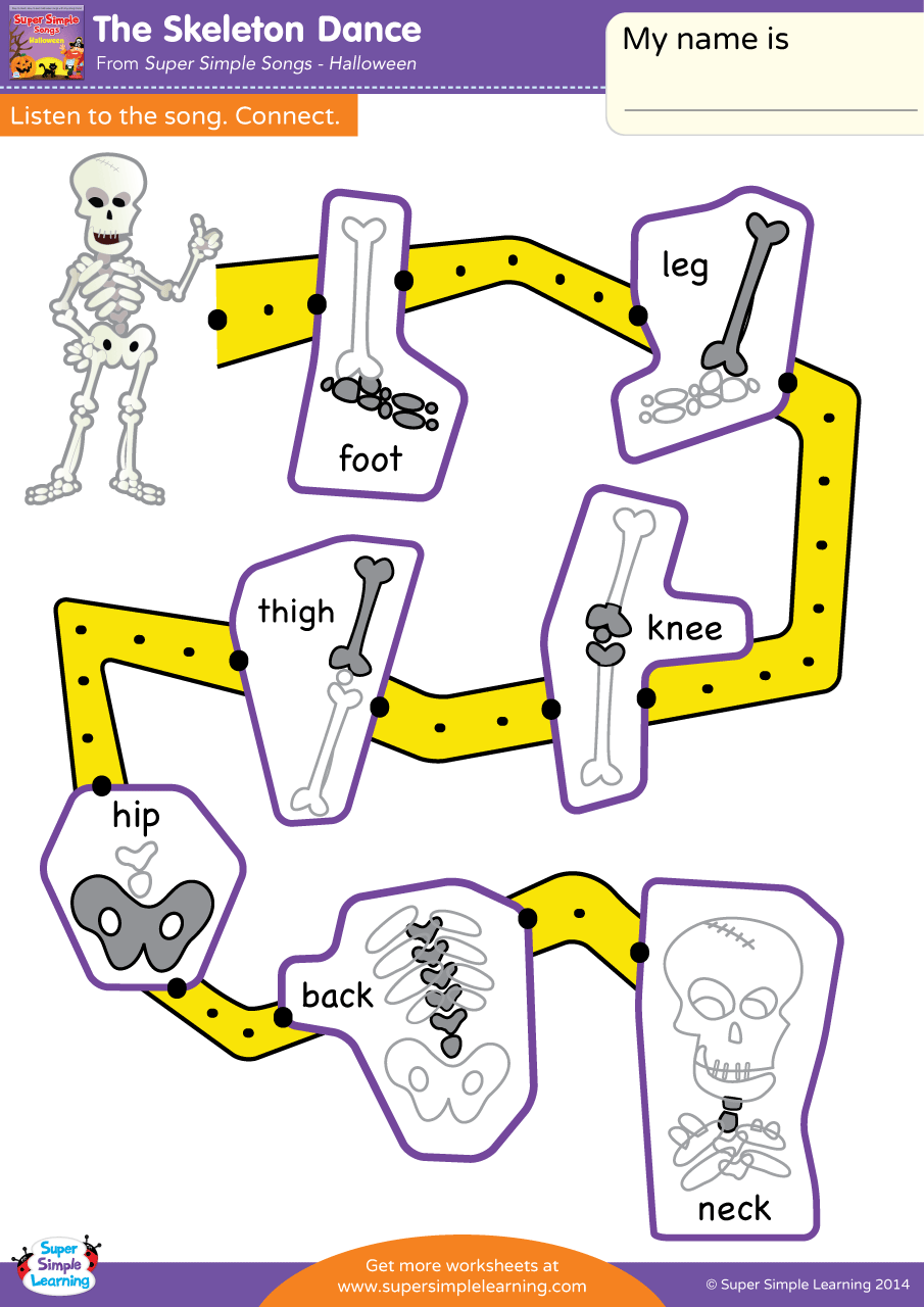 worksheet Dance Worksheets the skeleton dance worksheet listen connect super simple