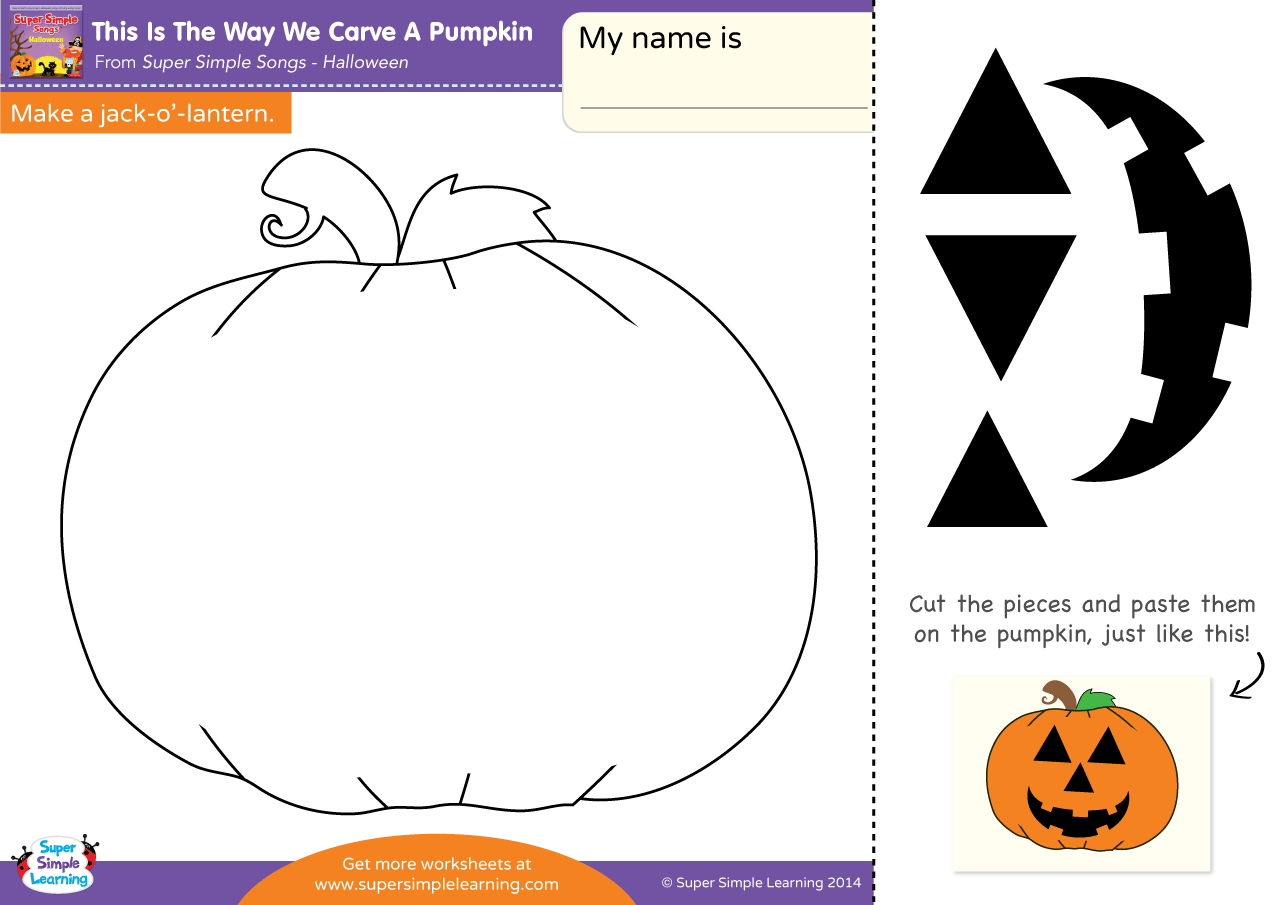 This Is The Way We Carve A Pumpkin Worksheet – Make A Jack-O ...