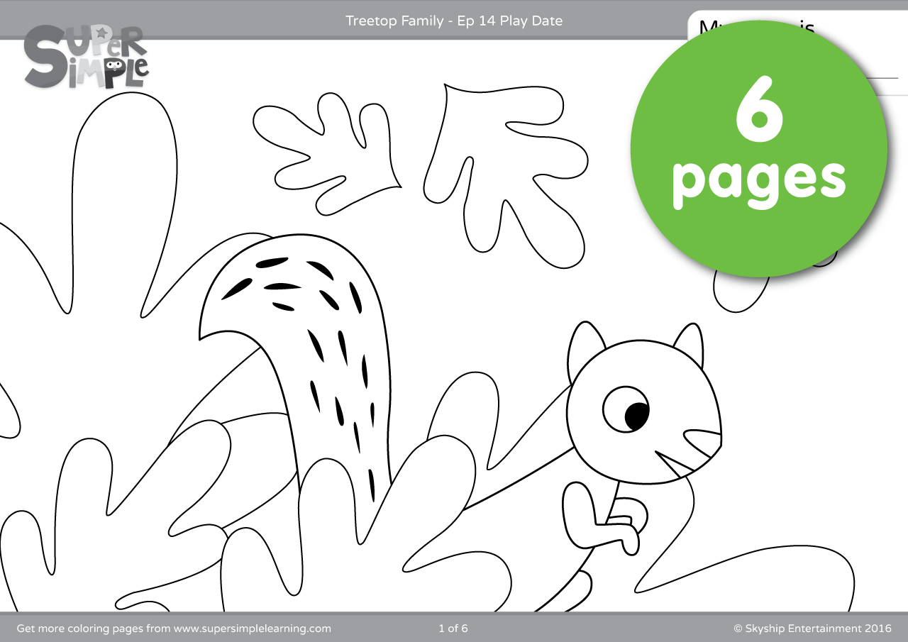 Treetop Family Coloring Pages Episode 14