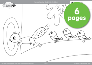 treetop family coloring pages episode 2 - Family Coloring Pages 2