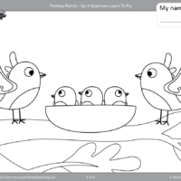 Free Five Little Monkeys coloring page from Super Simple Learning ... | 200x200