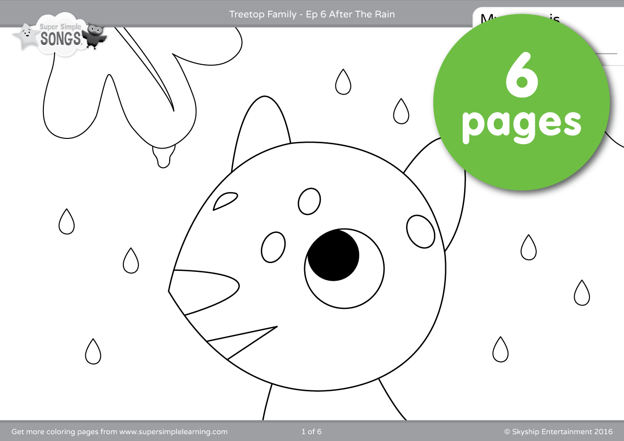 Treetop Family Coloring Pages Episode 6