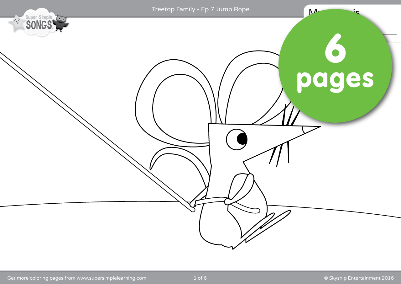 Treetop Family Coloring Pages – Episode 7 | Super Simple