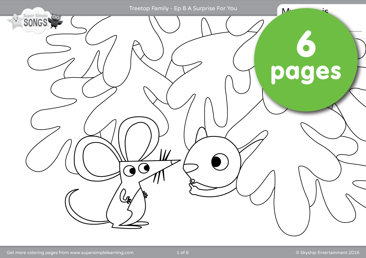 Treetop Family Coloring Pages Episode 8