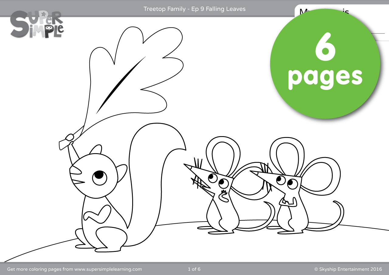 Treetop Family Coloring Pages Episode 9