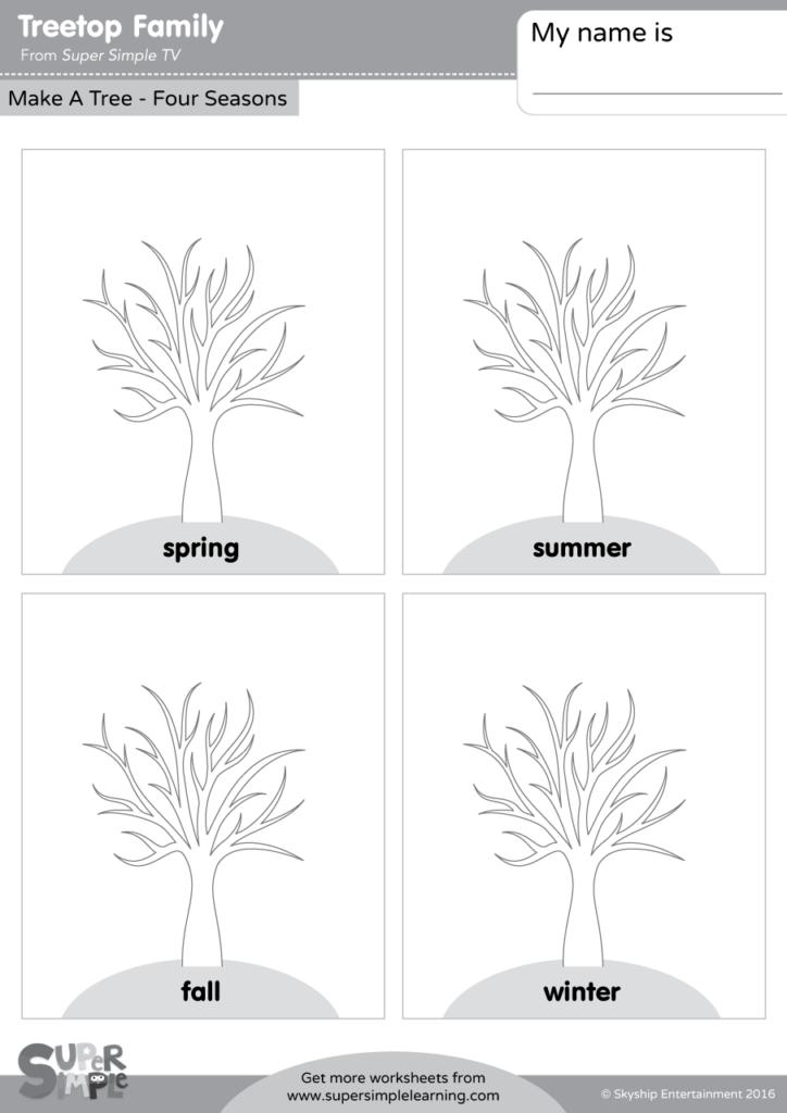 treetop family make a tree four seasons super simple. Black Bedroom Furniture Sets. Home Design Ideas