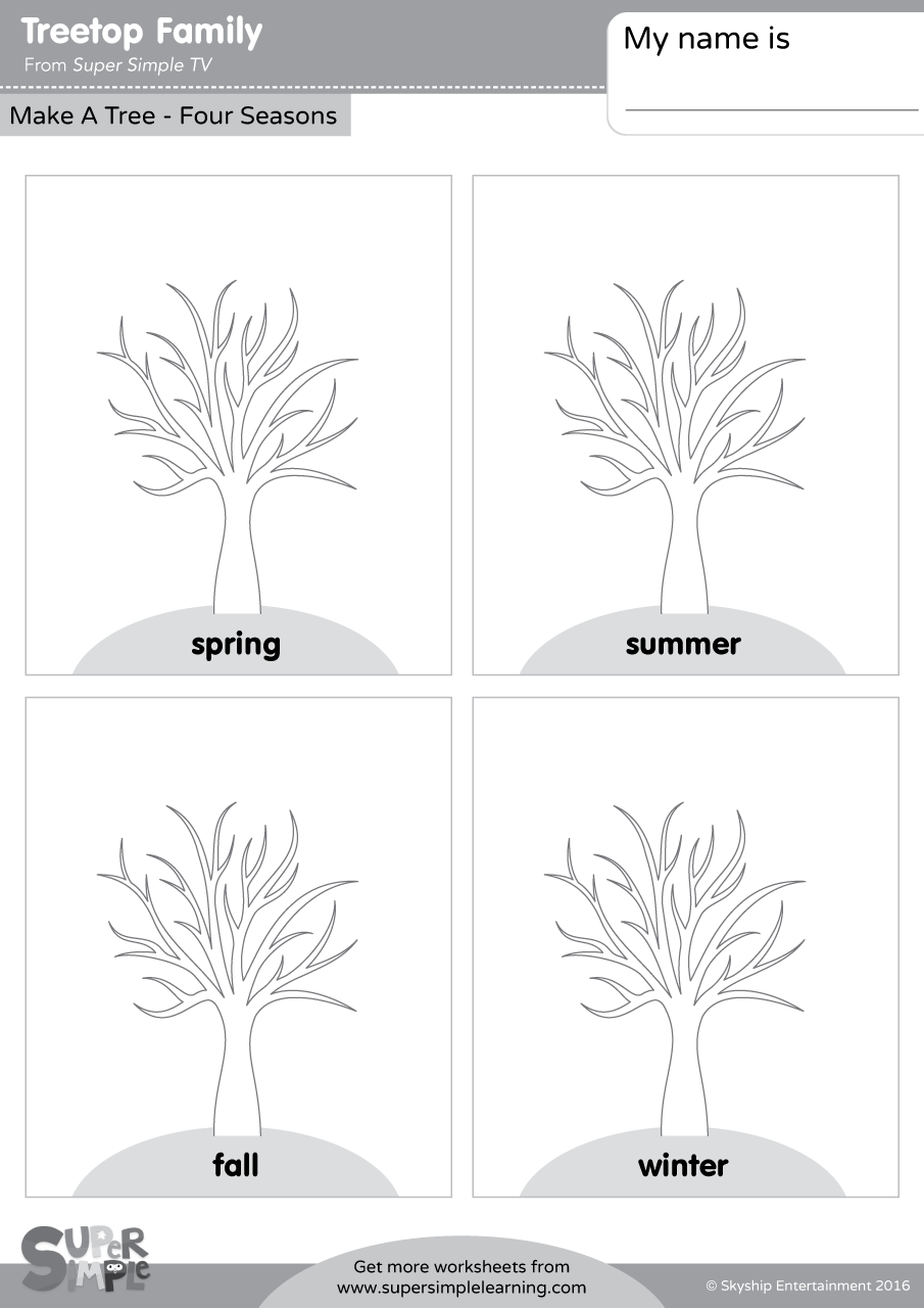 Treetop Family - Make A Tree - Four Seasons - Super Simple
