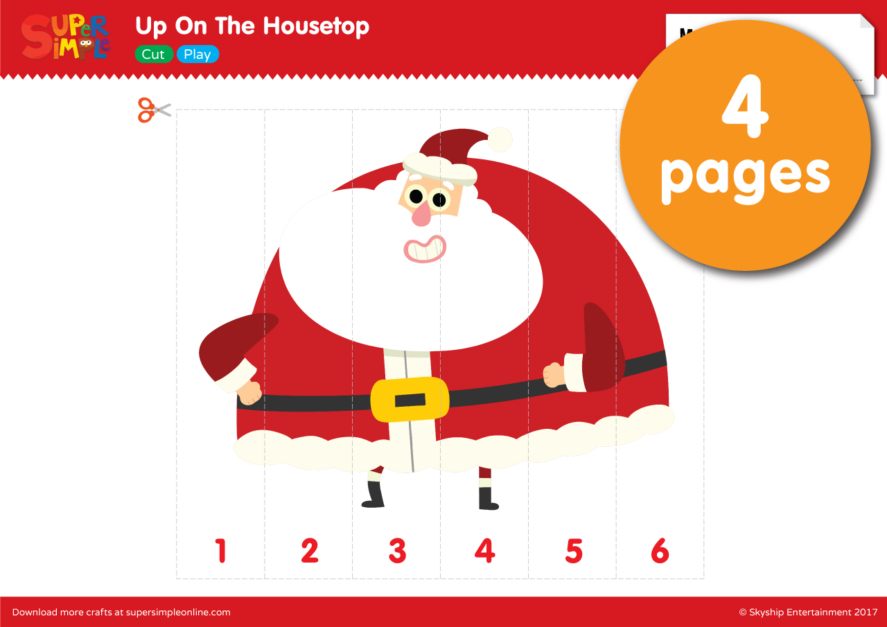 Up On The Housetop – Santa puzzle   Super Simple