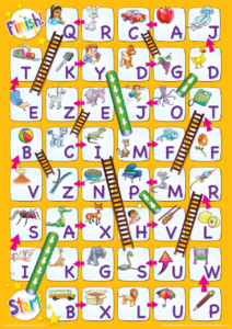 Uppercase Alphabet Chutes Amp Ladders Game Super Simple