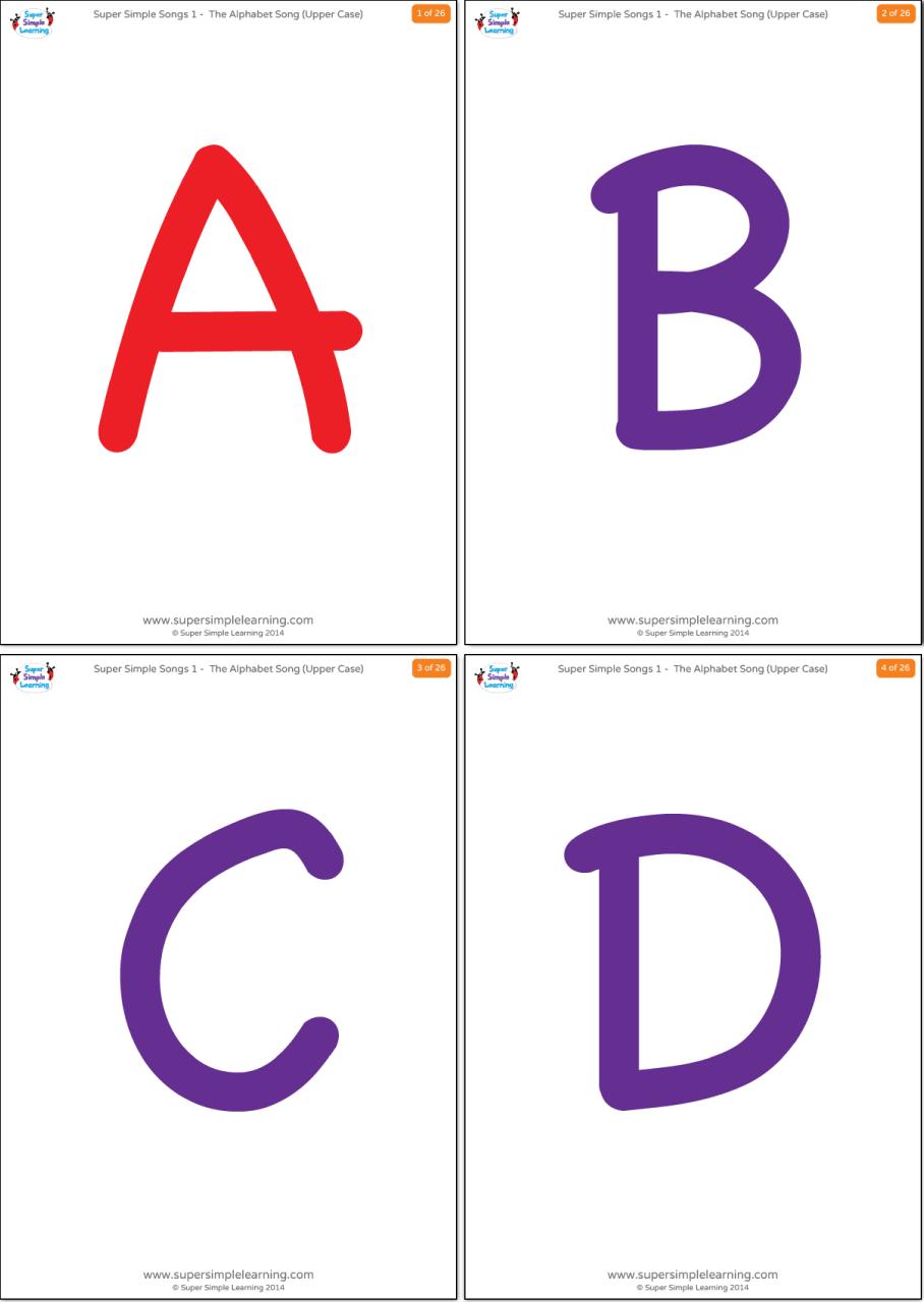 Uppercase Alphabet Flashcards