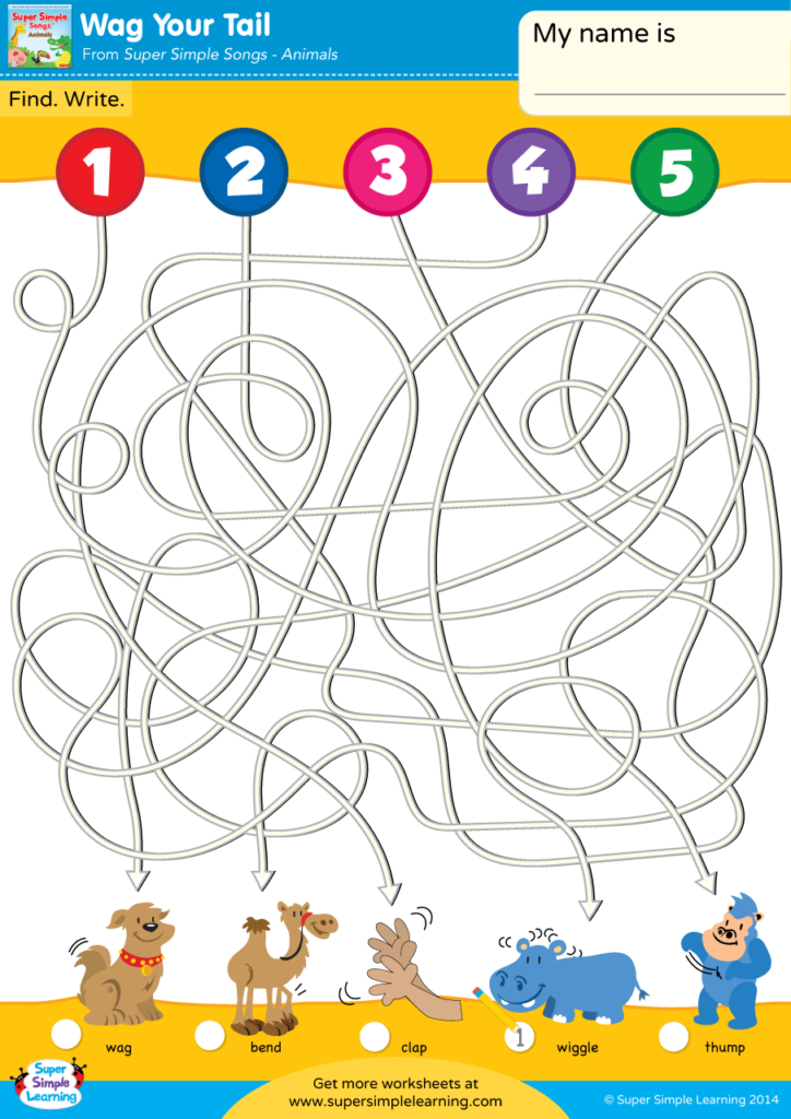 Wag Your Tail Worksheet Follow The Lines Super Simple