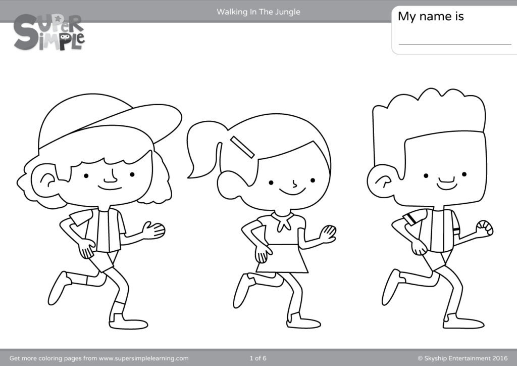 - Walking In The Jungle Coloring Pages - Super Simple
