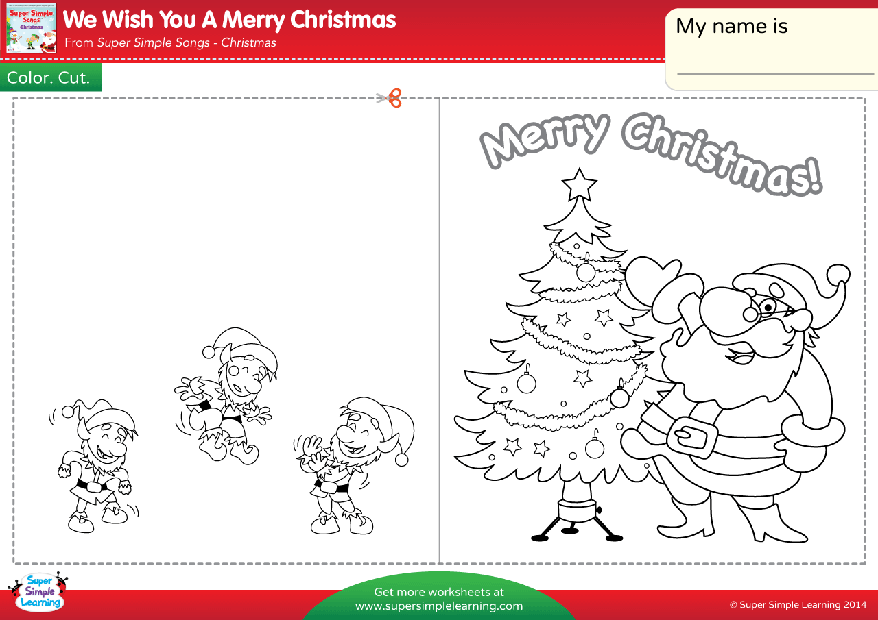 We Wish You A Merry Christmas Worksheet – Make A Chirstmas Card ...