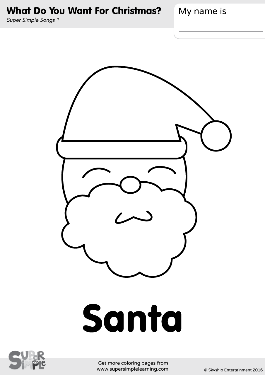 What Do You Want For Christmas? Coloring Pages | Super Simple