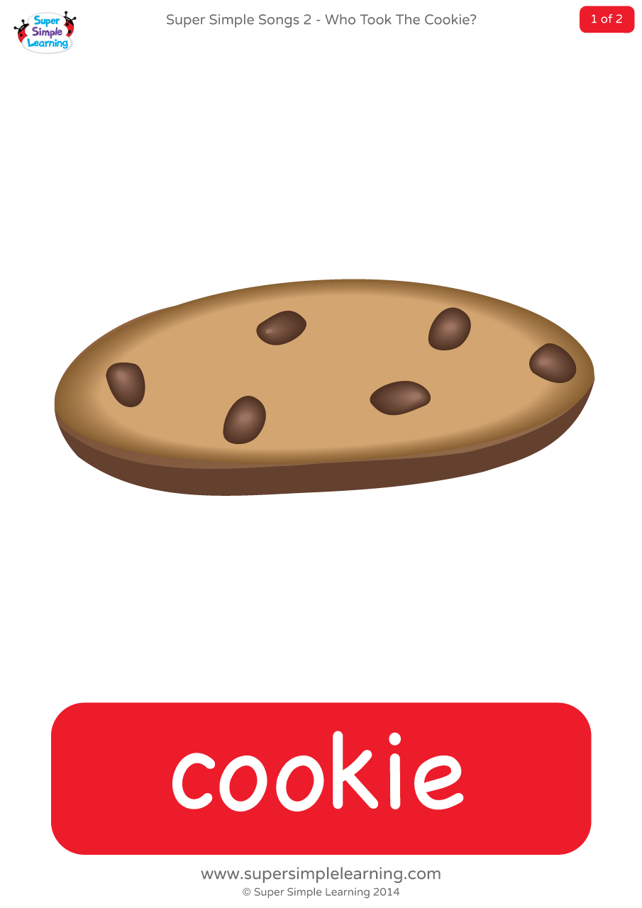 Who Took the Cookie? Game - Large Cards - Super Simple