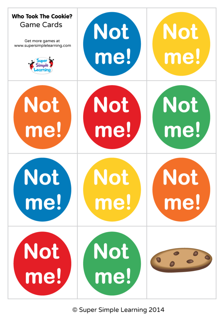 Who Took The Cookie Game Mini Cards Super Simple